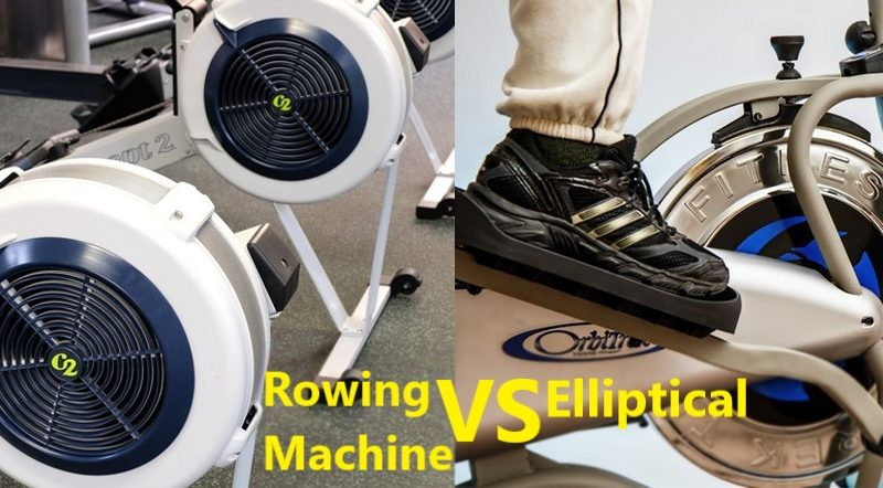 rowing machine vs elliptical machine