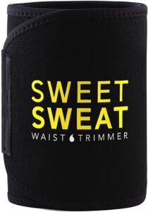 Sweet Sweat Waist Trimmer - Black-Yellow Logo